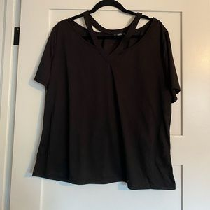 Never worn cut out shein tee